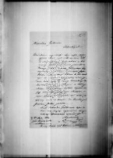 List majora Kuderowskiego i brulion z odpowiedzią Zamoyskiego