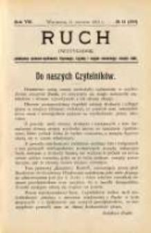 Ruch: dwutygodnik poświęcony sprawom wychowania fizycznego, hygieny i w ogóle normalnego rozwoju ciała 1912.06.11 R.7 No.11=149