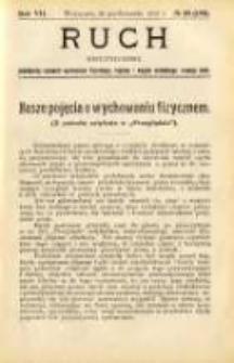 Ruch: dwutygodnik poświęcony sprawom wychowania fizycznego, hygieny i w ogóle normalnego rozwoju ciała 1912.10.26 R.7 No.20=158