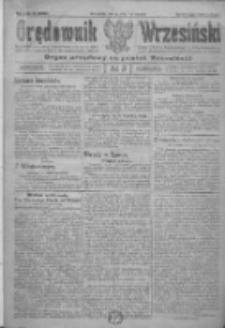 Orędownik Wrzesiński: organ urzędowy na powiat wrzesiński 1922.01.07 R.4 Nr3