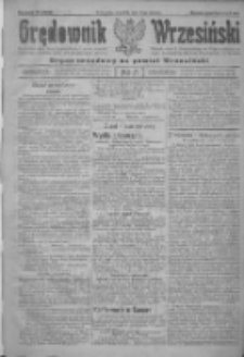 Orędownik Wrzesiński: organ urzędowy na powiat wrzesiński 1922.01.12 R.4 Nr5