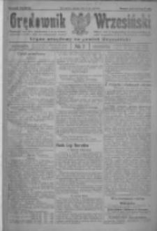 Orędownik Wrzesiński: organ urzędowy na powiat wrzesiński 1922.01.17 R.4 Nr7