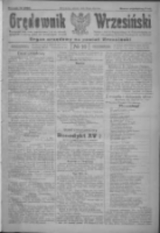 Orędownik Wrzesiński: organ urzędowy na powiat wrzesiński 1922.01.24 R.4 Nr10