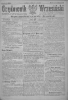Orędownik Wrzesiński: organ urzędowy na powiat wrzesiński 1922.02.04 R.4 Nr15