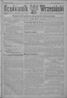 Orędownik Wrzesiński: organ urzędowy na powiat wrzesiński 1922.03.18 R.4 Nr33