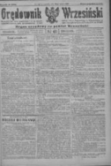 Orędownik Wrzesiński: organ urzędowy na powiat wrzesiński 1922.04.20 R.4 Nr46