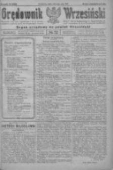 Orędownik Wrzesiński: organ urzędowy na powiat wrzesiński 1922.05.03 R.4 Nr52