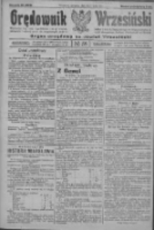 Orędownik Wrzesiński: organ urzędowy na powiat wrzesiński 1922.05.18 R.4 Nr58