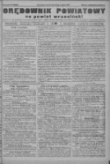 Orędownik powiatowy na powiat wrzesiński 1922.09.21 R.4 Nr111