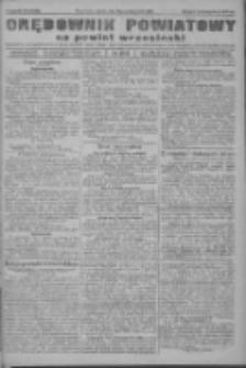 Orędownik powiatowy na powiat wrzesiński 1922.10.31 R.4 Nr128