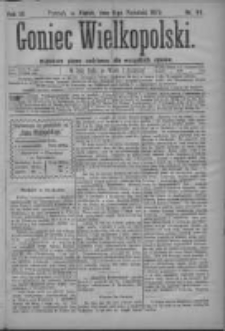 Goniec Wielkopolski: najtańsze pismo codzienne dla wszystkich stanów 1879.04.11 R.3 Nr84