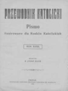 Przewodnik Katolicki. 1926 R.32 nr1