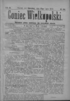 Goniec Wielkopolski: najtańsze pismo codzienne dla wszystkich stanów 1879.07.17 R.3 Nr161