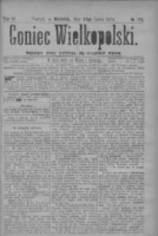 Goniec Wielkopolski: najtańsze pismo codzienne dla wszystkich stanów 1879.07.27 R.3 Nr170