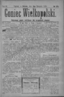 Goniec Wielkopolski: najtańsze pismo codzienne dla wszystkich stanów 1879.08.02 R.3 Nr175