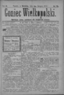 Goniec Wielkopolski: najtańsze pismo codzienne dla wszystkich stanów 1879.08.03 R.3 Nr176
