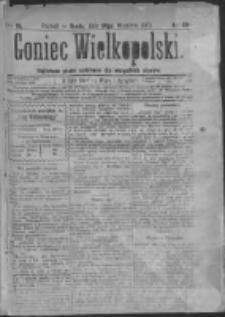 Goniec Wielkopolski: najtańsze pismo codzienne dla wszystkich stanów 1879.09.24 R.3 Nr218
