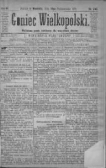 Goniec Wielkopolski: najtańsze pismo codzienne dla wszystkich stanów 1879.10.19 R.3 Nr240