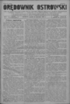 Orędownik Ostrowski: pismo na powiat ostrowski i miasto Ostrów, Odolanów, Mikstat, Sulmierzyce, Raszków i Skalmierzyce 1937.01.22 R.86 Nr7