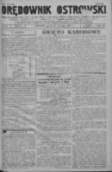 GazOrędownik Ostrowski: pismo na powiat ostrowski i miasto Ostrów, Odolanów, Mikstat, Sulmierzyce, Raszków i Skalmierzyce 1937.04.30 R.86 Nr35