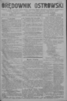 Orędownik Ostrowski: pismo na powiat ostrowski i miasto Ostrów, Odolanów, Mikstat, Sulmierzyce, Raszków i Skalmierzyce 1937.05.25 R.86 Nr42