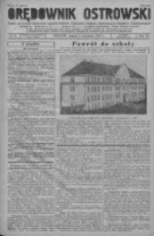 Orędownik Ostrowski: pismo na powiat ostrowski i miasto Ostrów, Odolanów, Mikstat, Sulmierzyce, Raszków i Skalmierzyce 1937.09.03 R.86 Nr72