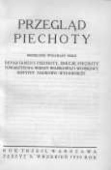 Przegląd Piechoty: miesięcznik wydawany przez Departament Piechoty, Sekcję Piechoty Towarzystwa Wiedzy Wojskowej i Wojskowy Instytut Naukowo-Wydawniczy 1930 wrzesień R.3 Z.9
