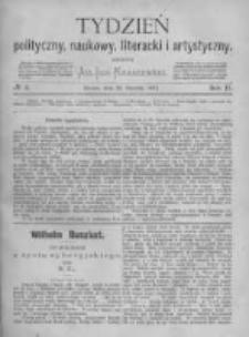 Tydzień Polityczny, Naukowy, Literacki i Artystyczny. 1871 R.2 nr4
