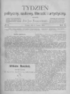 Tydzień Polityczny, Naukowy, Literacki i Artystyczny. 1871 R.2 nr6