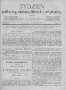 Tydzień Polityczny, Naukowy, Literacki i Artystyczny. 1871 R.2 nr16