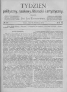 Tydzień Polityczny, Naukowy, Literacki i Artystyczny. 1871 R.2 nr18