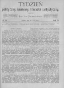 Tydzień Polityczny, Naukowy, Literacki i Artystyczny. 1871 R.2 nr22