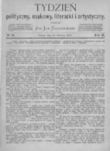Tydzień Polityczny, Naukowy, Literacki i Artystyczny. 1871 R.2 nr26