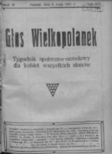 Głos Wielkopolanek: tygodnik społeczno-narodowy dla kobiet wszystkich stanów 1921.05.08 R.14 Z.19