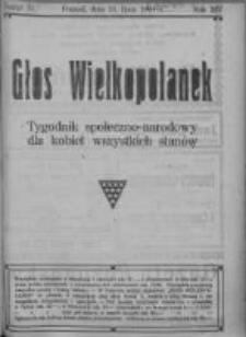 Głos Wielkopolanek: tygodnik społeczno-narodowy dla kobiet wszystkich stanów 1921.07.31 R.14 Z.31