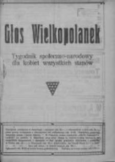 Głos Wielkopolanek: tygodnik społeczno-narodowy dla kobiet wszystkich stanów 1921.08.14 R.14 Z.33