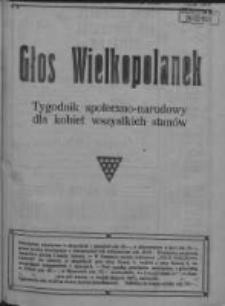 Głos Wielkopolanek: tygodnik społeczno-narodowy dla kobiet wszystkich stanów 1921.09.25 R.14 Z.39