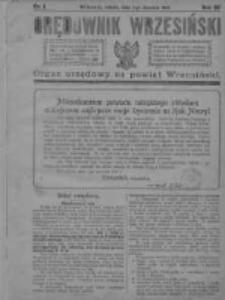 Orędownik Wrzesiński 1921.01.01 R.3 Nr1
