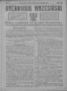 Orędownik Wrzesiński 1921.01.22 R.3 Nr7