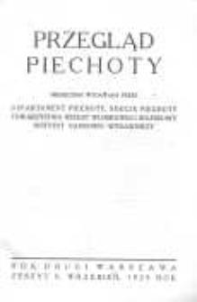 Przegląd Piechoty: miesięcznik wydawany przez Departament Piechoty, Sekcję Piechoty Towarzystwa Wiedzy Wojskowej i Wojskowy Instytut Naukowo-Wydawniczy 1929 wrzesień R.2 Z.9
