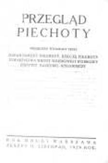 Przegląd Piechoty: miesięcznik wydawany przez Departament Piechoty, Sekcję Piechoty Towarzystwa Wiedzy Wojskowej i Wojskowy Instytut Naukowo-Wydawniczy 1929 listopad R.2 Z.11