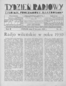 Tydzień Radjowy. 1929 R.3 nr47
