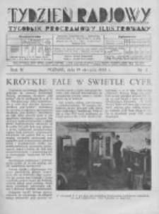 Tydzień Radjowy. 1930 R.4 nr3