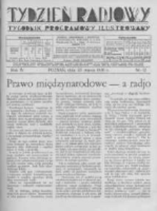 Tydzień Radjowy. 1930 R.4 nr12