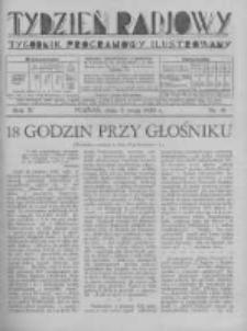 Tydzień Radjowy. 1930 R.4 nr18