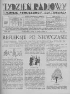 Tydzień Radjowy. 1930 R.4 nr19