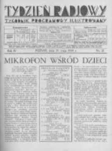 Tydzień Radjowy. 1930 R.4 nr21