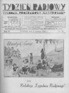 Tydzień Radjowy. 1930 R.4 nr23