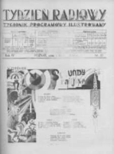 Tydzień Radjowy. 1930 R.4 nr27
