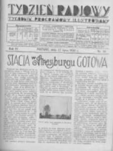 Tydzień Radjowy. 1930 R.4 nr30